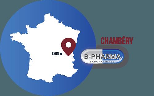 BPHARMA est situé Chambery, proche de Lyon